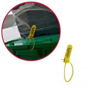 Sello de plástico foliado Rat Seal para aerolíneas