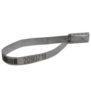 Sello de seguridad metálico Flat Seal con foliado