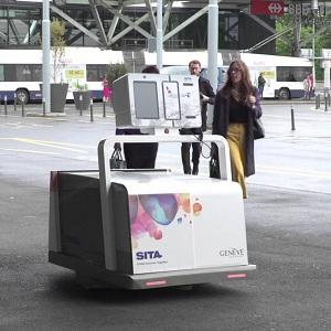 Exhiben y Prueban Robot para Equipaje en el AICM
